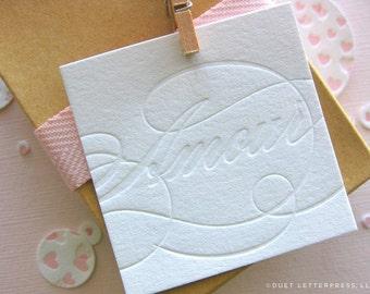 letterpress amour tags