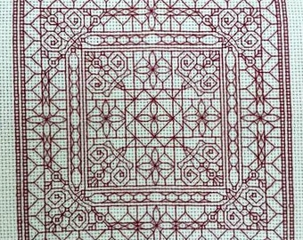 Instant Download Blackwork Whimsy Back Stitch Pattern, PDF Cross Stitch Pattern, Blackwork-Style Pattern, Choose Your Colors