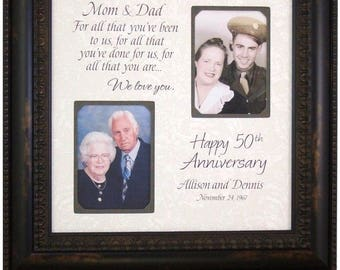 Wedding Gift for Parents 50th Anniversary, Anniversary Gift, Golden Anniversary Gift, 50 Year Marriage, 25 Year Marriage,  16x16