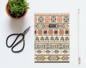 A5 cuaderno de 'Notas', diario. Diseño de la impresión africana