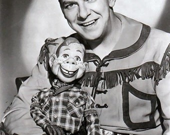 Howdy Doody and Buffalo Bob Smith in 1955