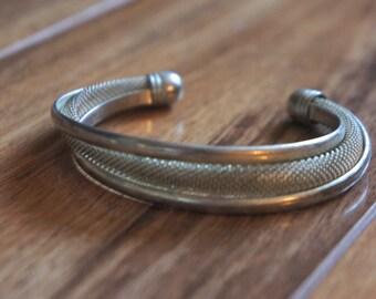 Silver Bracelet  Vintage Jewelry Sterling Silver 925 Dimensionless Unusual Design Signed 925