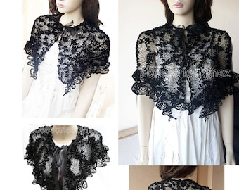 Knitted Capelet Pattern,PDF Knitting Pattern,Ruffled Poncho Pattern,Shoulder Wrap,  Wedding Capelet,Scarf Shawl Pattern