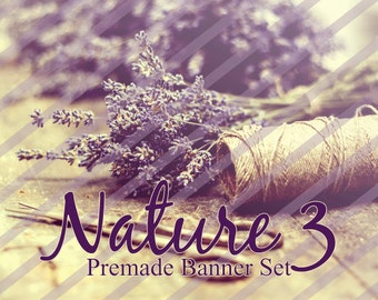 "Banner Set - Shop banner set - Premade Banner Set - Graphic Banners - Facebook Cover - Avatars - Bisiness Card - ""Nature 3"""
