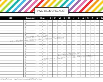 EDITABLE Printable Calendar Perpetual Calendar Rainbow