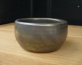 Metallic Grey/Green Small Bowl, Hand Made Pottery