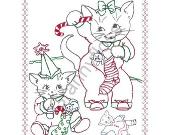 Kittens with Candy Canes