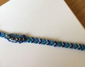 Personalised braid name bracelet