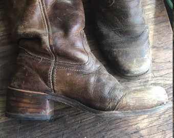 Women's Frye Boots Brown Leather Tall Boots Size 7.5