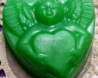 Cupid Heart Handcrafted Glycerin Soap Love Valentine Bar U Pick Color & Scent