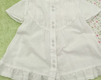 White baby dress, 6-9 month, baptising dress, baby summer dress, baby party dress,