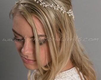 Bridal Pearl Halo, Wedding Hair Accessory - Sinduja