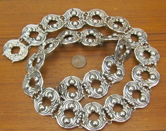 Sterling Belt hand made in Mexico silver jewelry 925 cosplay concho 116 grams