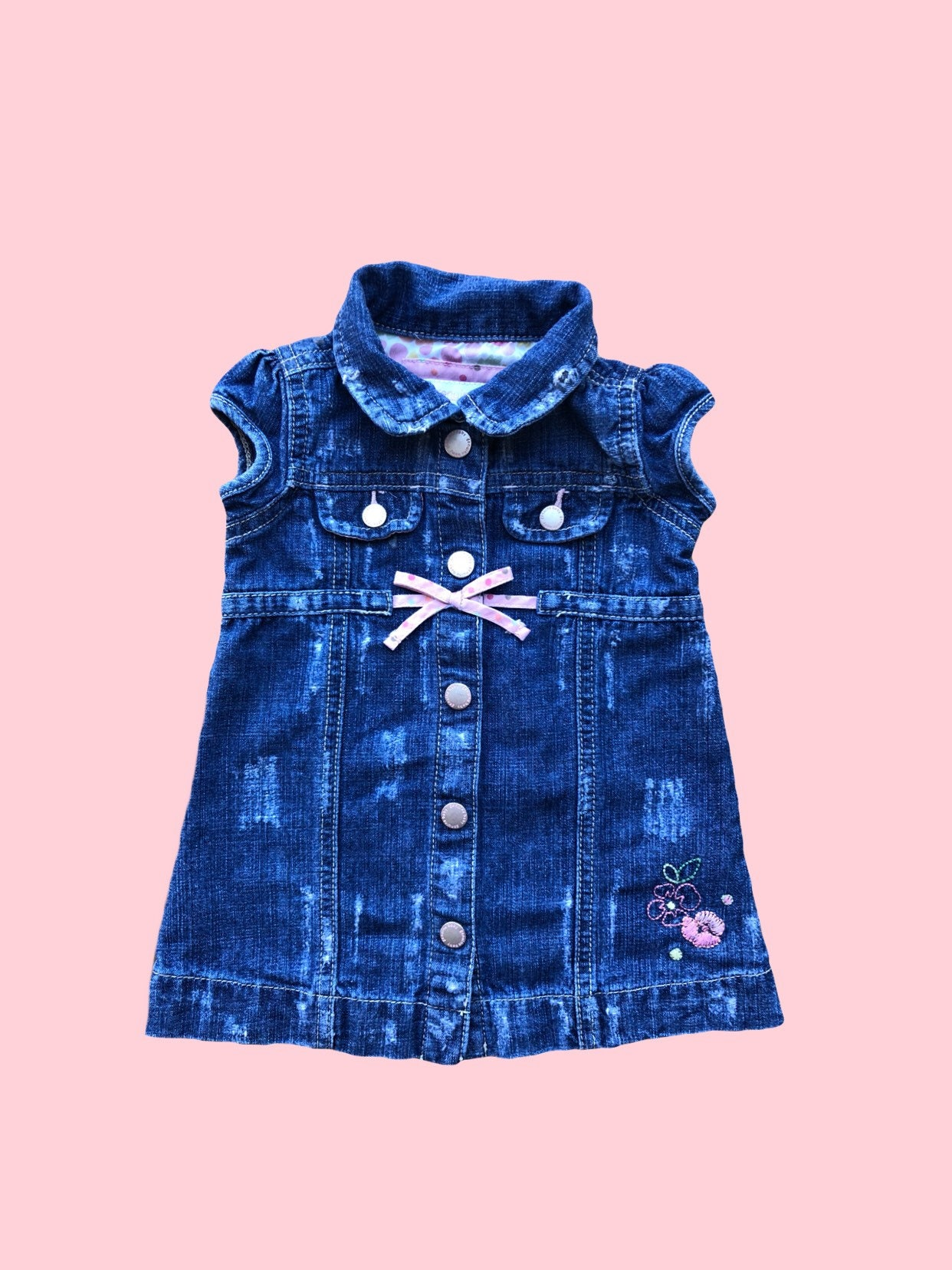 Baby girl dress Girl denim dress Baby debim dress Baby jean
