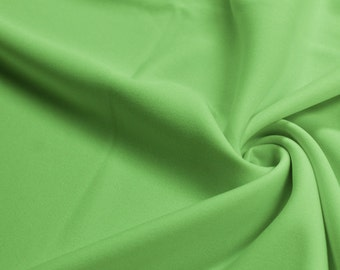 Lime Dark 60'' Solid Stretch Scuba Knit Fabric by the Yard - Style 3044