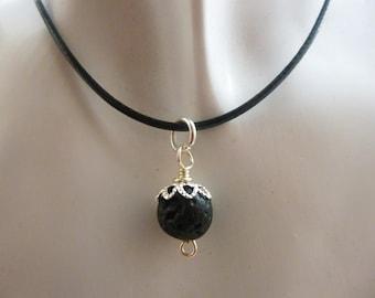 Lava Rock Necklace/Essential oil diffuser necklace.