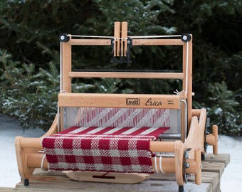 "In 2 Sizes! Erica Loom from Louet, Table Top Weaving loom, folds flat for storage. 2 or 4 shaft, 12"" or 20"", 20cm or 50cm"