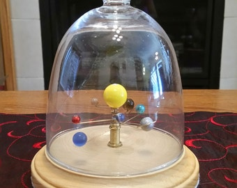 Medium Solar System - Mechanical Orrery (with Glass Dome)
