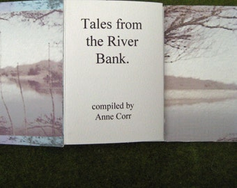 Tales from the River Bank, Handmade book, accordion fold, nature lover, Special card