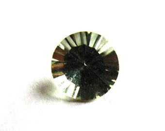 7mm Quantum Cut Round Prasiolite Solitaire Loose Gemstone of 1.13 Carats