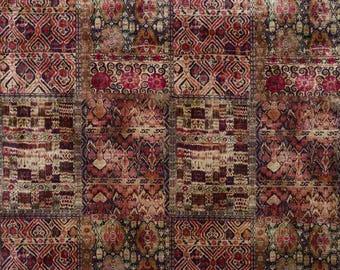 KRAVET COUTURE Lee JOFA Ornate Velvet Fabric 10 yards Magenta Multi