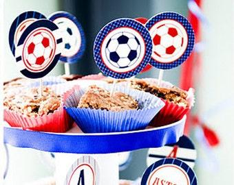 Soccer - Preppy Style Custom Printable Party - Customized - SALE!!!