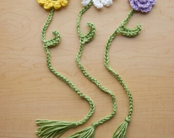 Crochet Flower Bookmark - Custom order