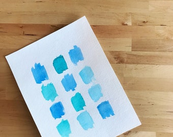 Why So Blue - Watercolor Print