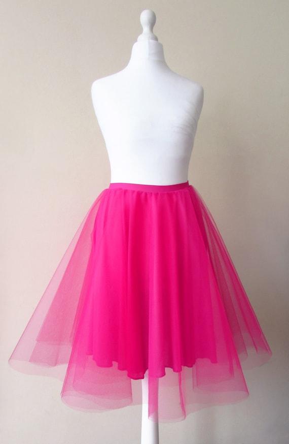 Pink tulle skirt Pink tutu Tulle circle skirt Pink net skirt