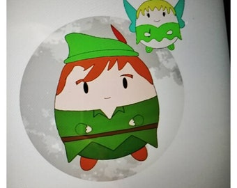 Peter Pan and Tinkerbell stickers