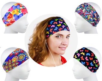 Workout Headband, Yoga Headband, Running Headband, Fitness Headbands, Wide Headband, Festival Headband, Hair Wrap, Floral Headband, Headwrap