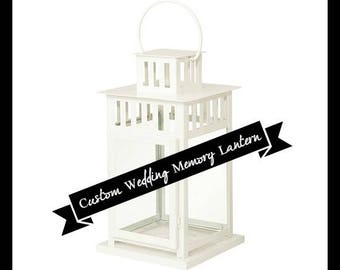 Wedding, Memorial Lantern, In Loving Memory, Memory Candle, Keepsake,Remembrance, Bereavement