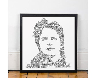 Marty McFly poster - Back to the Future print - Michael J fox drawing - Limited Edition of 100 - BTTF