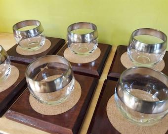 Coasters, Handmade, Solid Poplar and Cork