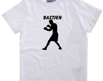 T-shirt boy Boxer personalized with name