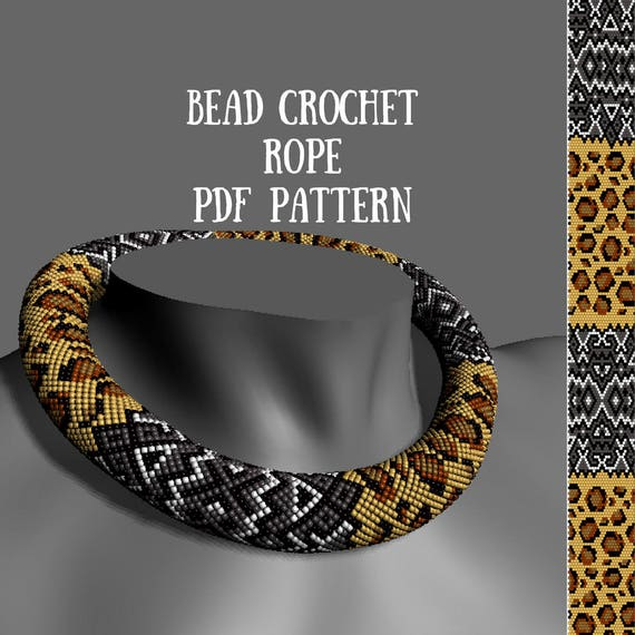 Bead Crochet Rope Pattern Beading Patterns Bead Crochet