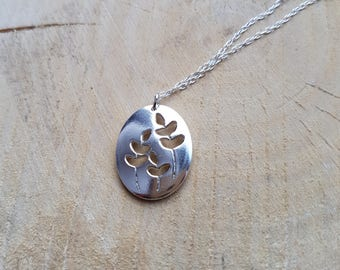 Branch Necklace Pendant, Sterling Silver Branch, Leaf Pendant, Branch, Silver Branch Necklace, Branch Jewellery