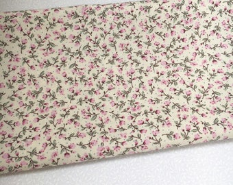 Pink Ditsy 100% Cotton Floral Fabric, Rose & Hubble, Vintage, Sewing, Quilting, Craft, Applique, Material
