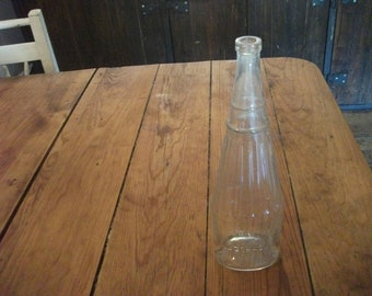 vintage PORTUGUESE GLASS BOTTLE, Abadia de Alcobaça, collectibles