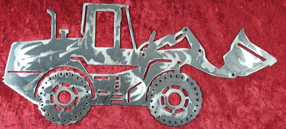 "Front End Loader 16"", Heavy Equipment, Metal Front End Loader, Heavy Equipment Operator, Construction Equipment, Man Cave, Gift for Him"