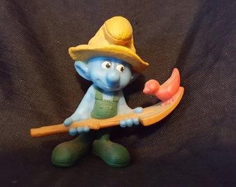 Farmer Smurf Cake Topper Figurine