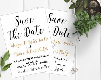 Save the Date Card, Wedding Stationery, Save the Dates, Wedding Invitations, Wedding Cards, Modern Save the Dates, Rustic Save the Dates