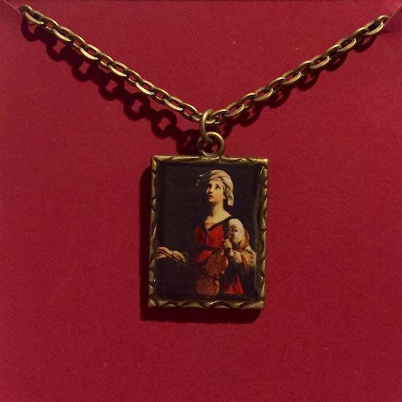 St cecilia brass pendant necklace aloadofball Gallery
