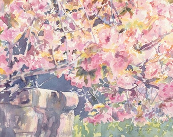 "Original watercolor painting, 8x10"": 'Make a fresh start'"
