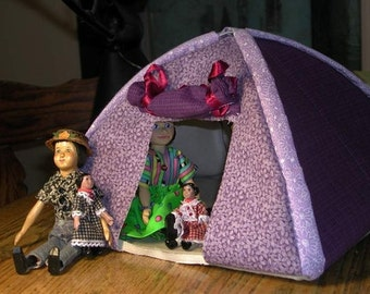 "Easy to Sew Dome Tent Pattern for Dollies from 4"" to 7"""