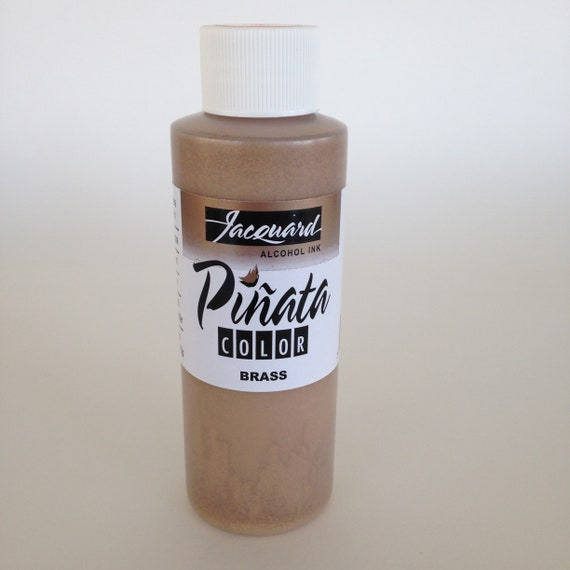 Brass 4oz. Jacquard Pinata Alcohol Ink alcohol based high vibrancy colors. Perfect for polymer clay & more