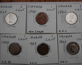 CANADA  LOT OF 15  Cat Value  Coins-----Value???   See Scan    Great Price