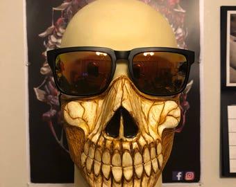 Skull 1/4 Mask