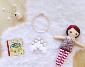 Boho dreamcatcher, tassel wall hanging, boho girlfriend gift, tassel decoration, tassel wall decor, tassel baby mobile, bohemian decor