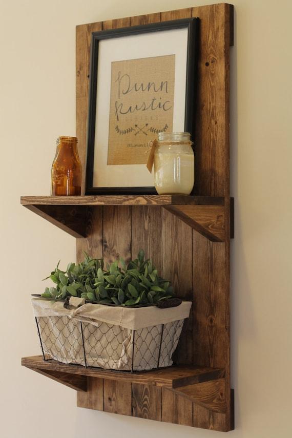 Vertical Rustic Wooden Shelf Rustic Shelf Rustic Furniture